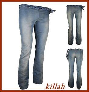 Jeans Killah Donna Elasticizzato  A Zampa D'elefante Taglia W 26-27-28-29-32-33