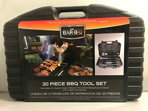 Brand New 20 Piece Stainless Steel Barbecue Tool Set with Hard Case Free Ship!