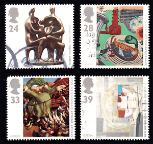 1993 Great Britain Works of Art Set of 4 USED #40c#