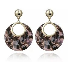 Multi Pink Round Earrings Acrylic Kendra + Chloe Design By Isabel j Scott