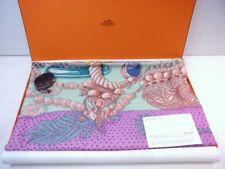 Hermes Carre 140 Shawl Stole Scarf Zenobie Reine de Palmyre Cashmere Silk Pink