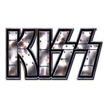 KISS Stud Logo Metal Pin Badge Brooch Album Band Music Official Product