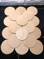"""20 Leather Coasters 3.5"""" Inch Circle Natural Veg Tanned Thick Cowhide 8-10 oz"""