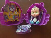 Cry Babies Magic Tears Fantasy Mini Dolls Tuka Bird Fantasies Winged House NEW!!