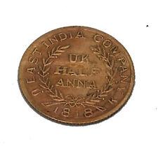1818 UKL HALF ANNA COPPER BAJRANGBALI ANTIQUE OLD COIN