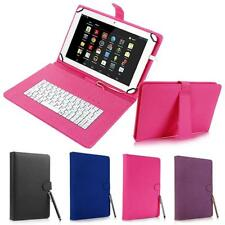 """for Android 7"""" - 8"""" inch Tablet Universal Leather Case Cover with Keyboard USB"""