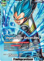 ♦Dragon Ball Super♦ Vegeta Super Saiyan Bleu [LEADER] : BT1-028 R -VF-
