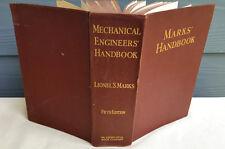 Marks Handbook Mechanical Engineers Lionel S Marks 5th Ed. McGraw Hill Harvard
