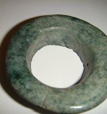 "Pre Columbian Authentic1,000 year old Mayan Large 2"" Jade Earing or Ear Spool"