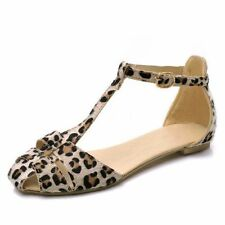Women's Animal Print Block Heel Sandals and Beach Shoes