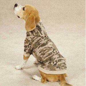 Casual Canine Digital Camo Camouflage Dog Fleece Hoodie Sweatshirt Coat XXS-XXL