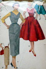 LOVELY VTG 1950s DRESS & SKIRT Sewing Pattern 11/29