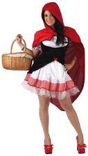 Costume Halloween Vestito Cappuccetto Rosso Carnevale Donna cosplay adulto 05945