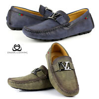 Mens Smart Casual Slip On Loafers Designer Driving Leather Moccasin Shoes Size