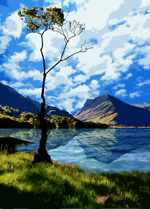 Lake Buttermere Lake District Limited Art Print By Sarah Jane Holt