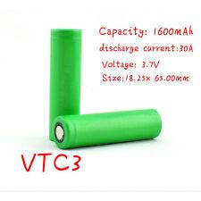 2 GENUINE SONY US 18650 VTC3 HIGH DRAIN 30A Li-on Battery 1600mAh