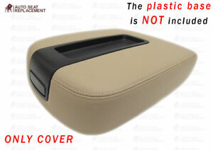 2007-2014 GMC Yukon Sierra  Center Console Lid Cover Tan-Only cover-No plastic