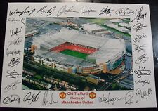Old Trafford the home of MANCHESTER UNITED  signed Print