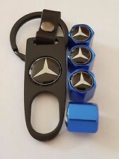 MERCEDES Wheel Valve Dust caps Alloy Spanner Keychain AMG Boxed BLUE SPRINTER ML