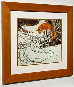 BEV DOOLITTLE - Missed - Matted & Framed Open Edition Art Print Red Fox