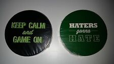 Drink Coasters Haters Gonna Hate & Keep Calm and Game On 12 pack each 24 total