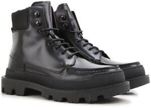 $1120 Men's Prada Hi-Top Black Combat / Snow Boots Shoes Prada Sz 9.5 US 10.5