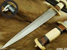 "ALISTAR 15.5"" CUSTOM HANDMADE DOUBLE EDGE SWISS DAGGER HUNTING KNIFE (4394-25"