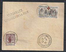 France 1919 YV 148+156 cover VERSAILLES CONGRES DE LA PAIX not sent