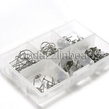 Surgical Stainless Steel Earring Making Kit with Assorted Findings for 25 pairs