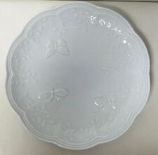 "LENOX BUTTERFLY MEADOW SKY LIGHT BLUE LUNCH PLATE 9"" LOVELY EUC"