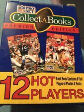 1990 NFL PRO SET COLLECT-A-BOOKS PREMIER EDITION FACTORY SEALED SERIES 1 Blue