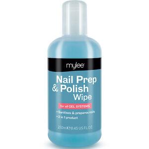 Mylee Prep And Wipe Nail Gel Polish Cleanser Cleaner UV LED Manicure 250ml