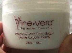 Vine Vera Resveratrol Skin Care 10oz Intensive Shea Body Butter