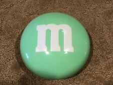 M&M's Easter GREEN Pastel Candy Dish Plastic Large 6.5 inch diameter Excellent