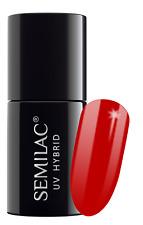 Semilac Nails Polish GEL 7ml Hybrid Manicure Color Coat 063 Legendary Red