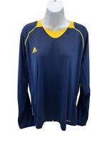 adidas Women's Blue/Yellow Long Sleeve Activewear Shirt Sz 3XL