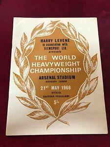 May 1966 World Heavyweight Championship Program Muhammed Ali v Cooper (PL1)