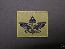 Singapore senior parachutist airborne special forces commando para wing badge