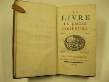 Le livre de quatre couleurs, Curiosita' tipografiche, libro a piu' colori