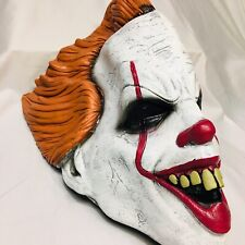 Pennywise IT Movie Face Mask 2017 Adult 3/4 Front Halloween Scary Clown Head