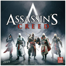 Assassin's Creed Origins Game 16 Month 2019 Fantasy Art Wall Calendar NEW SEALED