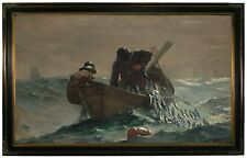 Winslow Homer The Herring Net -Brown Gallery Framed Canvas Print Repro 23x36