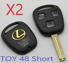 Set of 2 LEXUS Remote Head Key SHELL 3 BUTTON SHORT BLADE USA Seller A++
