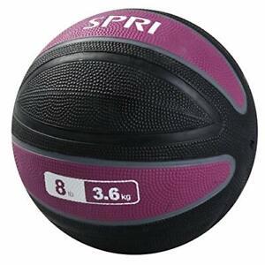 SPRI Xerball Medicine Ball Thick Walled Durable Construction with Textured Su...