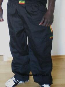 Rasta Hose lang, Schwarz, Reggae  Jah Army