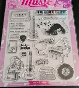 We Love Music Clear Stamps