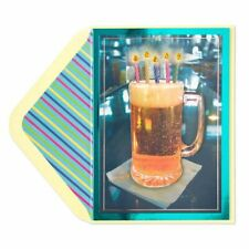 Papyrus Beer With Candles Birthday Card