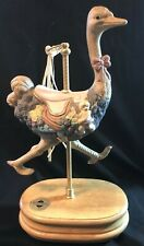 Vtg Breckenridge Ostrich Carousel Musical Figurine 1993 Toy Land moves up & down