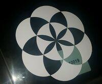 Sacred geometry flower dimond Car vinyl Sticker 100×100mm aussie made & design
