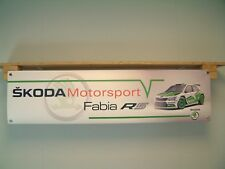Skoda Fabia R5 BANNER Rally Car Workshop Garage Motorsport